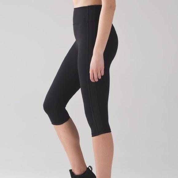179c471611406 lululemon athletica Pants | Lulu Lemon Black High Waisted Crop ...